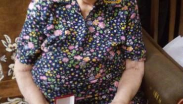 Знак «Почетного гражданина Краснодара» участнику Великой Отечественной войны, освободителю Краснодара Рыбкиной Ольге Трофимовне