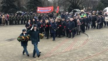 Открытие ежегодного военно-патриотического месячника, на территории Выставочного зала Боевой Славы, в парке 30-летия Победы.