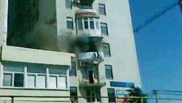 В центре Краснодара горит административное здание. Видео
