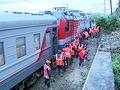 Поезда на Кубани, где на пути сошел сель, входят в рабочий график