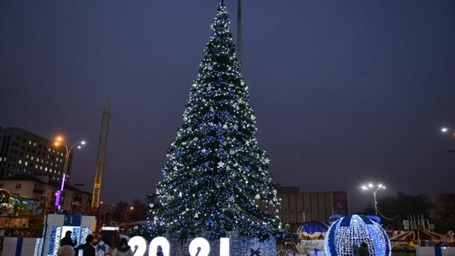 В Краснодаре открыли главную городскую ёлку
