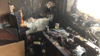 В Новороссийске от церковной свечи загорелась квартира