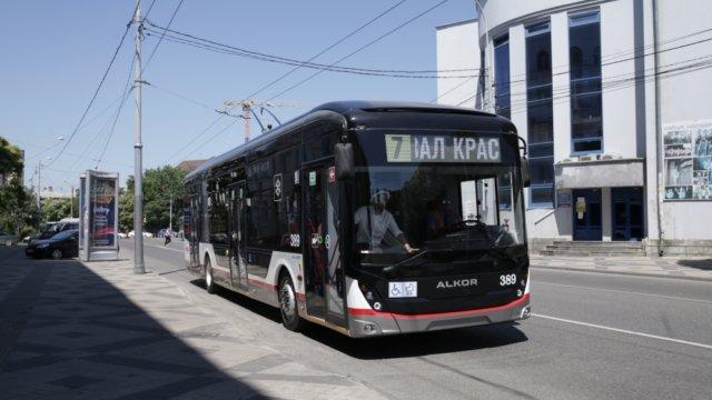В Краснодаре вышел на маршрут первый троллейбус собственной сборки