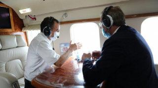 Губернатор Кубани осмотрел место разлива нефти под Новороссийском
