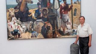 В Краснодаре пройдет выставка одной картины заслуженного художника РФ Валентина Папко «Отцы кубанского казачества С. Белый, З. Чепега, А. Головатый»