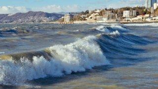В Сочи пляжи открыли для отдыхающих после шторма