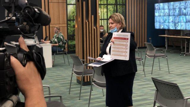 Глава краевой Общественной палаты Любовь Попова представила в Совете Федерации результаты общественного наблюдения за выборами на Кубани